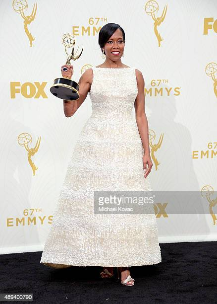 Actress Regina King winner of Outstanding Supporting Actress in a Limited Series or Movie for 'American Crime' poses in the press room at the 67th...