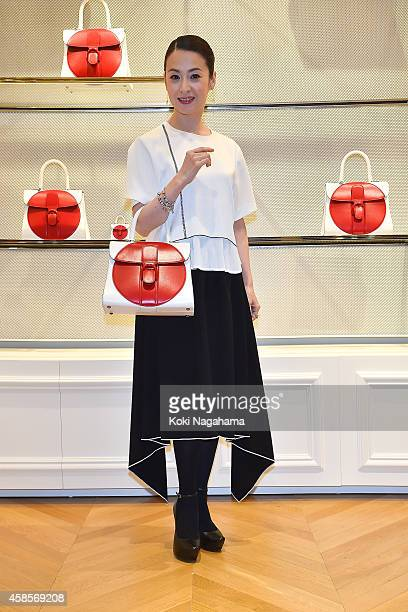Actress Rei Dan attends the Delvaux Red Moon Party at Delvaux Omotesando on November 7 2014 in Tokyo Japan