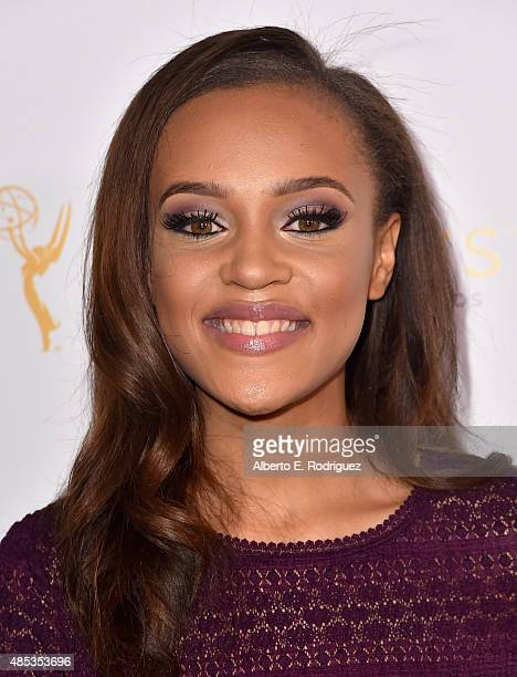 Actress Reign Edwards attends a cocktail reception hosted by the Academy of Television Arts Sciences celebrating the Daytime Peer Group at Montage...
