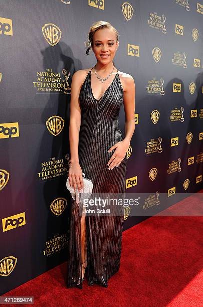 Actress Reign Edwards attends The 42nd Annual Daytime Emmy Awards at Warner Bros Studios on April 26 2015 in Burbank California