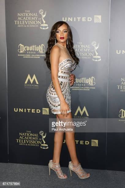 Actress Reign Edwards attends the 44th annual Daytime Creative Arts Emmy Awards at Pasadena Civic Auditorium on April 28 2017 in Pasadena California