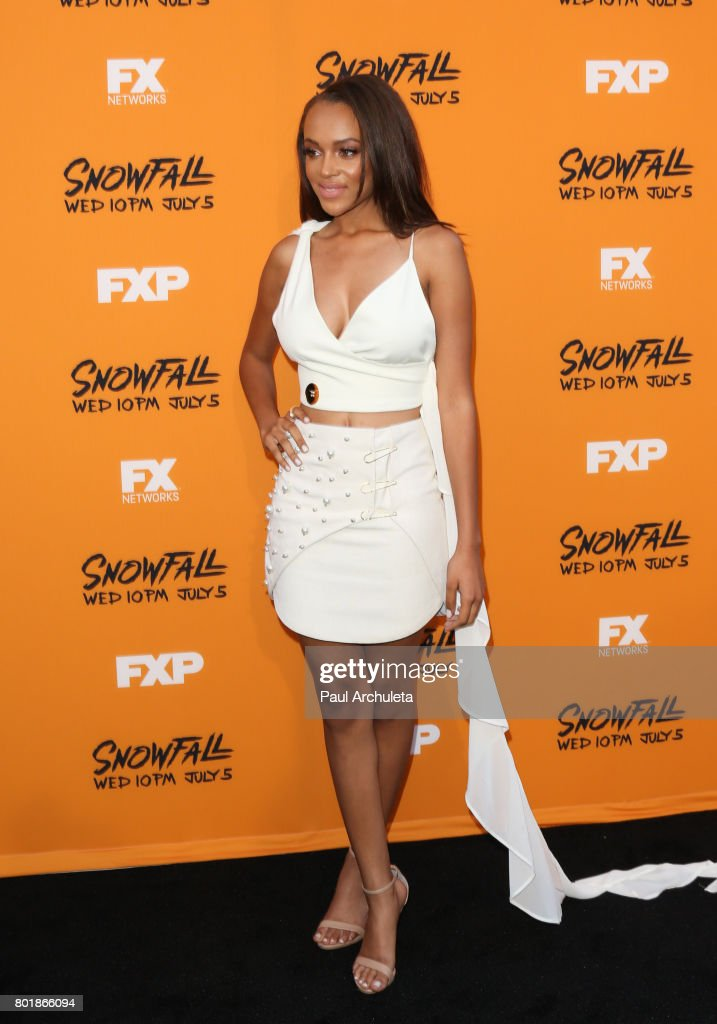 Reign Edwards - Snowfall Premiere at Ace Hotel in Los