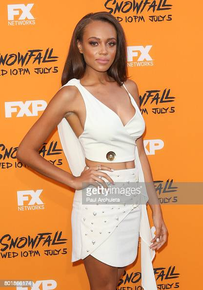 Reign Edwards: Snowfall Premiere in Los Angeles -09   GotCeleb