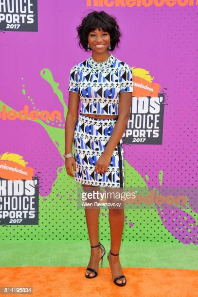 Actress Reiya Downs attends Nickelodeon Kids' Choice Sports Awards 2017 at Pauley Pavilion on July 13 2017 in Los Angeles California