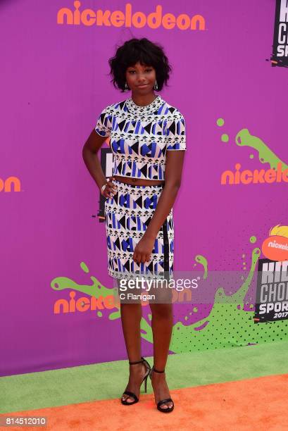 Actress Reiya Downs attends the Nickelodeon Kids' Choice Sports Awards 2017 at Pauley Pavilion on July 13 2017 in Los Angeles California