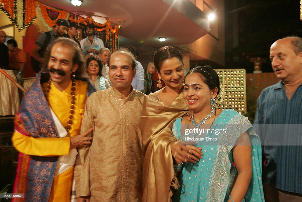 Actress Rekha Anupam kher Suresh Wadkar Lata Mangeshkar felicitation Fuction at SNDT