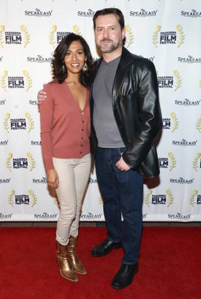 Actress Rekha Sharma and writer James Kerwin attend Pasadena International Film Festival `Buckout Road` premiere at Laemmle Playhouse 7 on March 9...