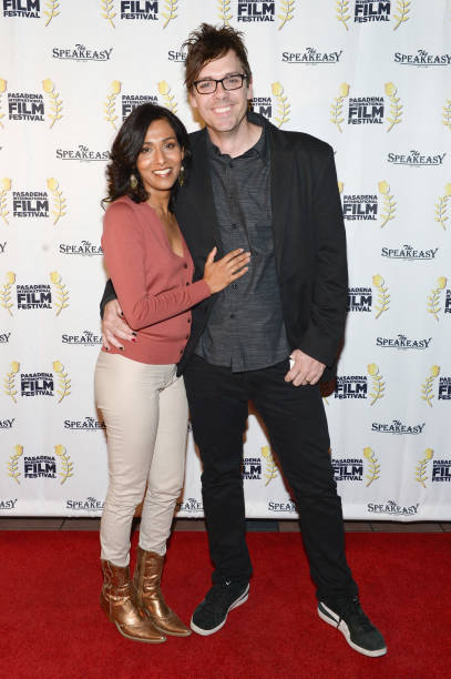 Actress Rekha Sharma and writer/director Matthew Currie Holmes attend Pasadena International Film Festival `Buckout Road` premiere at Laemmle...