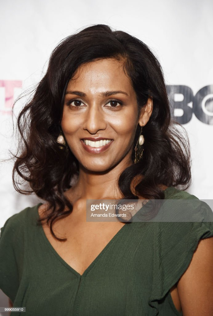 Actress Rekha Sharma arrives at the 2018 Outfest Los Angeles premiere of `Daddy Issues` at the DGA Theater on July 14 2018 in Los Angeles California