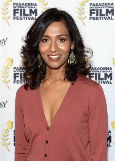 Actress Rekha Sharma attends Pasadena International Film Festival `Buckout Road` premiere at Laemmle Playhouse 7 on March 9 2018 in Pasadena...