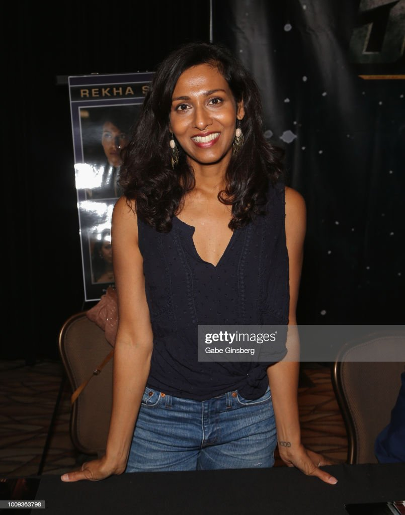 Actress Rekha Sharma attends the 17th annual official Star Trek convention at the Rio Hotel Casino on August 1 2018 in Las Vegas Nevada