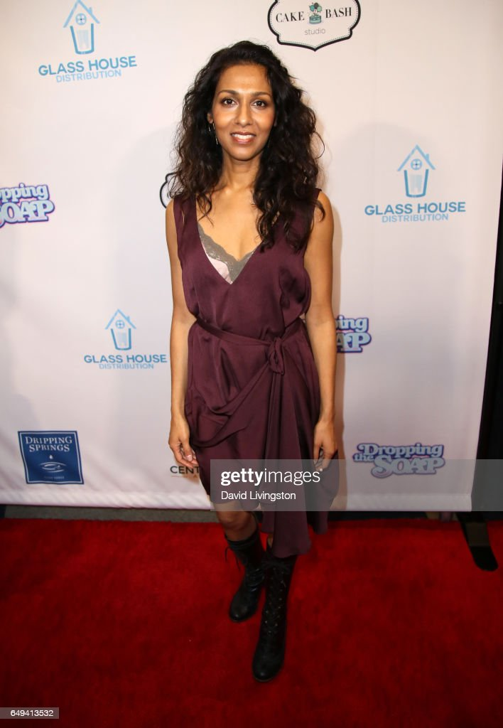 Actress Rekha Sharma attends the premiere of Glass House Distributions` `Dropping The Soap` at Writers Guild Theater on March 7 2017 in Beverly Hills.