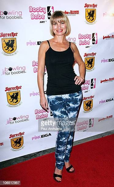 Actress Rena Riffel arrives at the Nude Nuns With Big Guns Los Angeles premiere at Laemmle Monica 4Plex on November 3 2010 in Santa Monica California