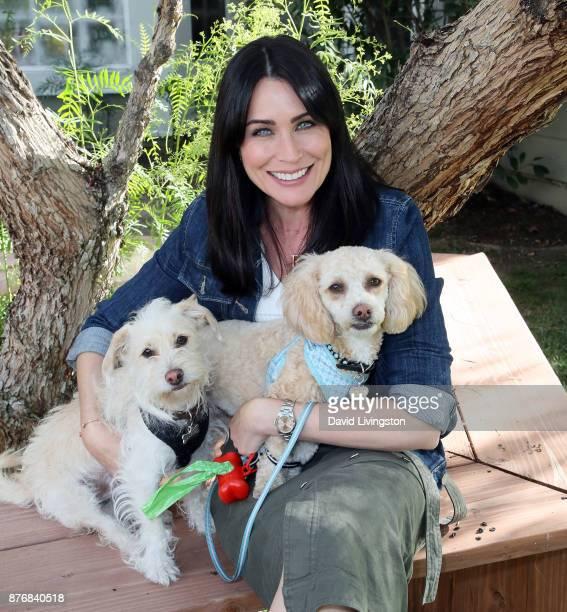 Actress Rena Sofer visits Hallmark's Home Family at Universal Studios Hollywood on November 20 2017 in Universal City California