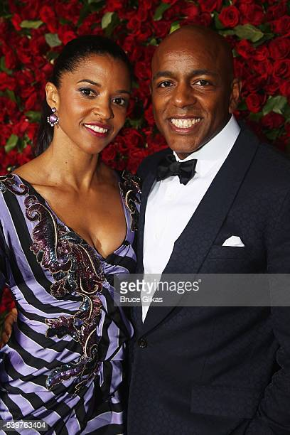 Actress Renée Elise Goldsberry and Alexis Johnson attend the 70th Annual Tony Awards Arrivals at Beacon Theatre on June 12 2016 in New York City