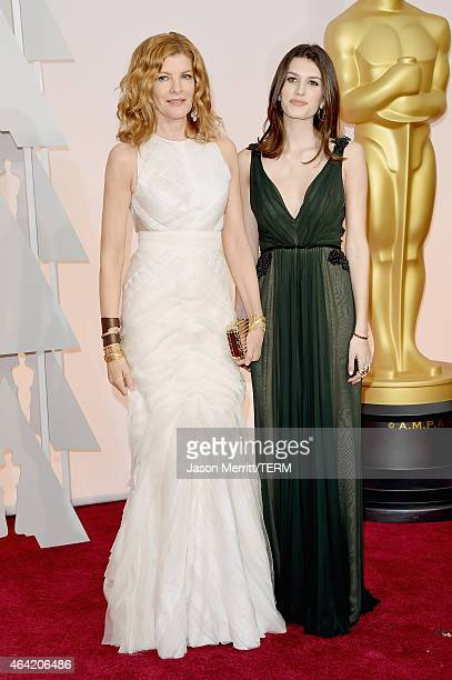 Actress Rene Russo and Rose Gilroy attend the 87th Annual Academy Awards at Hollywood Highland Center on February 22 2015 in Hollywood California