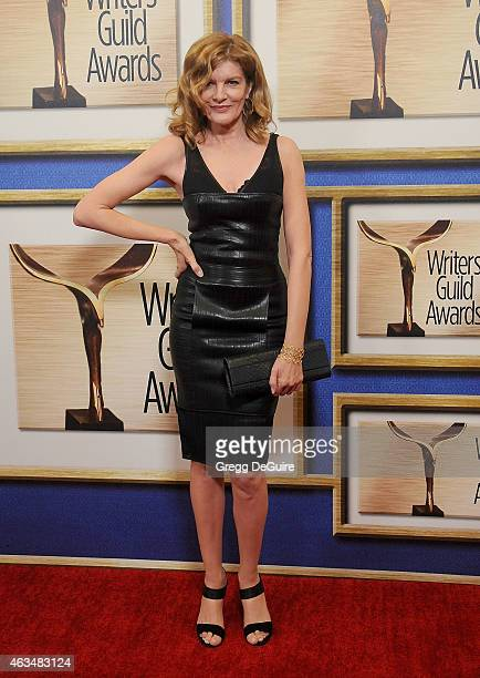 Actress Rene Russo arrives at the 2015 Writers Guild Awards LA Ceremony at the Hyatt Regency Century Plaza on February 14 2015 in Los Angeles...