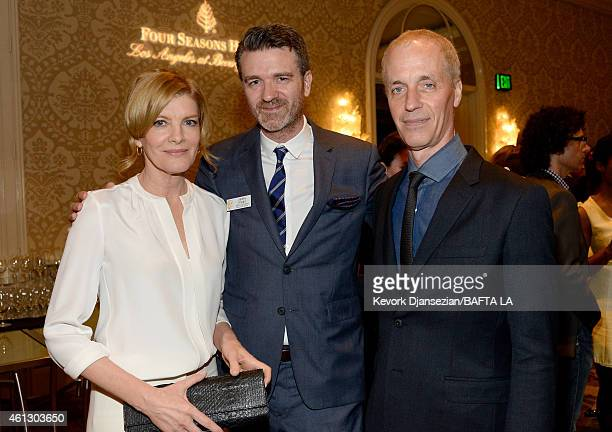 Actress Rene Russo BAFTA Los Angeles Board Member James Knight and writer/director Dan Gilroy attend the BAFTA Los Angeles Tea Party at The Four...
