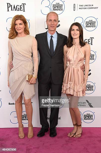 Actress Rene Russo director Dan Gilroy and Rose Gilroy attend the 2015 Film Independent Spirit Awards at Santa Monica Beach on February 21 2015 in...