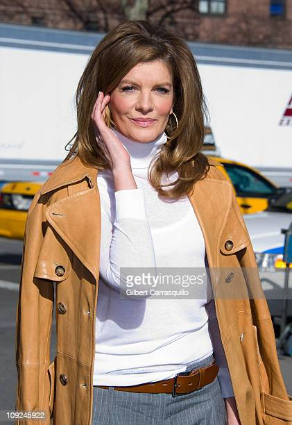 Actress Rene Russo is seen around Lincoln Center during MercedesBenz Fashion Week on February 16 2011 in New York City