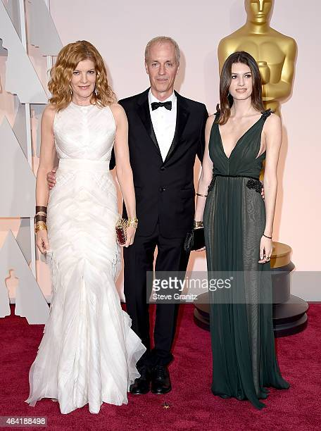 Actress Rene Russo screenwriter Dan Gilroy and Rose Gilroy attend the 87th Annual Academy Awards at Hollywood Highland Center on February 22 2015 in...
