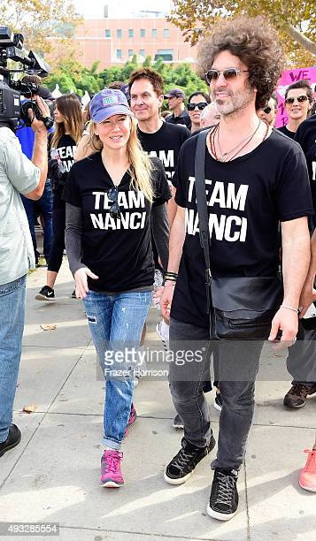 Actress Renée Zellweger and Doyle Bramhall attend the Nanci Ryder's Team Nanci At The 13th Annual LA County Walk To Defeat ALS at Exposition Park on...