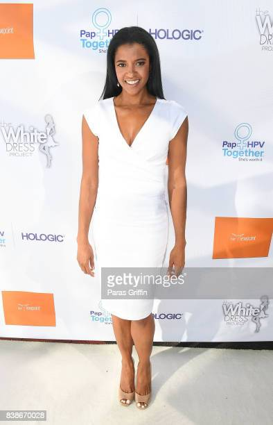 Actress Renee Elise Goldsberry at 'The Immortal Life Of Henrietta Lacks' Viewing Panel Discussion with Renee Elise Goldsberry Dr Jessica Shepherd Dr...