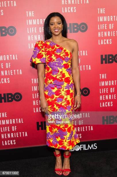 Actress Renee Elise Goldsberry attends The Immortal Life Of Henrietta Lacks New York Premiere at SVA Theater on April 18 2017 in New York City