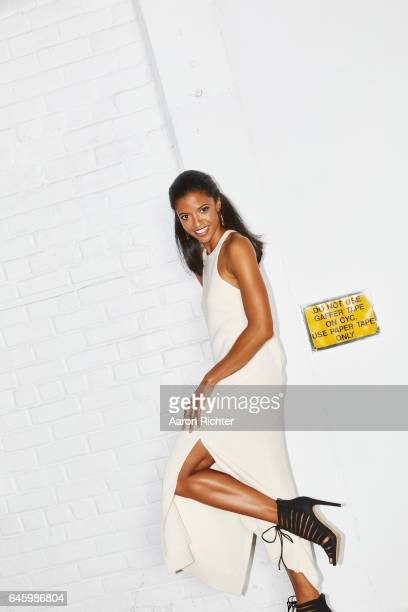 Actress Renee Elise Goldsberry is photographed for Trending NY Magazine on June 30 2015 in New York City