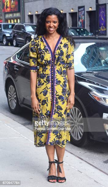 Actress Renee Elise Goldsberry is seen on April 20 2017 in New York City