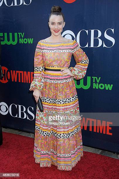 Actress Renee Felice Smith arrives at the CBS CW And Showtime 2015 Summer TCA Party at Pacific Design Center on August 10 2015 in West Hollywood...