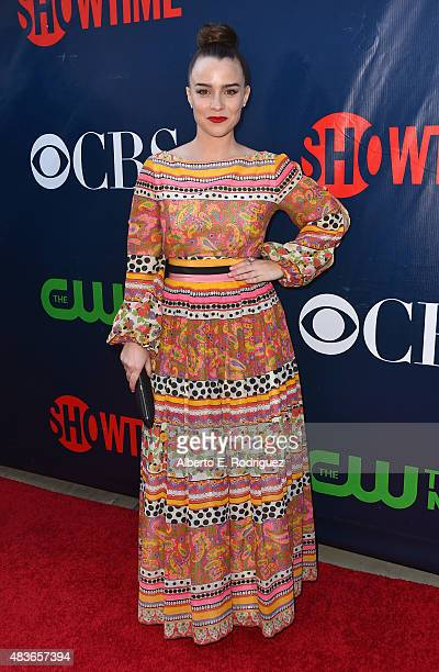 Actress Renee Felice Smith attends CBS' 2015 Summer TCA party at the Pacific Design Center on August 10 2015 in West Hollywood California