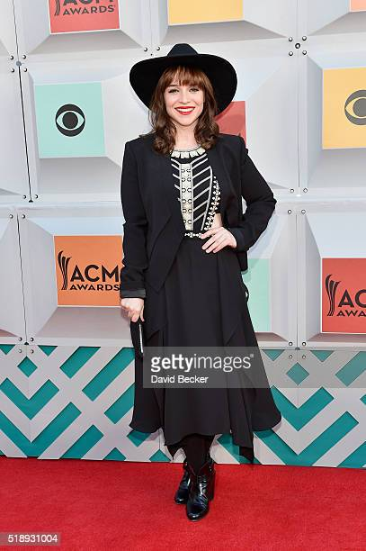 Actress Renee Felice Smith attends the 51st Academy of Country Music Awards at MGM Grand Garden Arena on April 3 2016 in Las Vegas Nevada