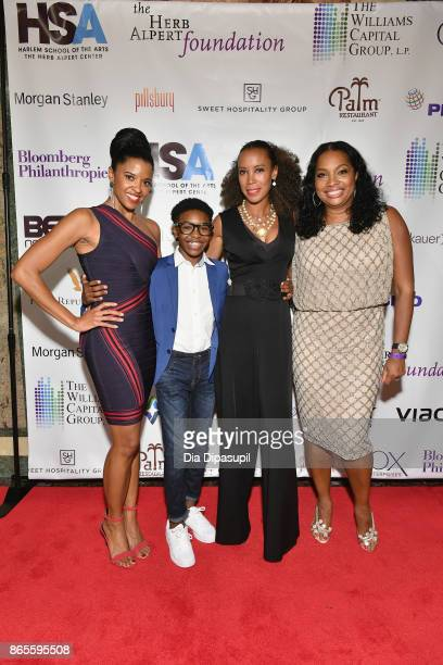 Actress Renee Goldsberry Douglas Baldeo Michelle Fizer and Vice Chair of HSA Janice Savin Williams attend HSA Masquerade Ball on October 23 2017 at...