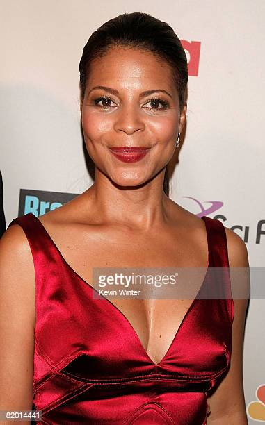 Actress Renee Jones arrives at the NBC Universal 2008 Press Tour AllStar Party held at the Beverly Hilton Hotel on July 20 2008 in Beverly Hills...