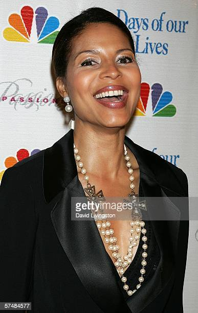 Actress Renee Jones attends NBC's Days of Our Lives and Passions preEmmy party at French 75 Bistro on April 27 2006 in Burbank California