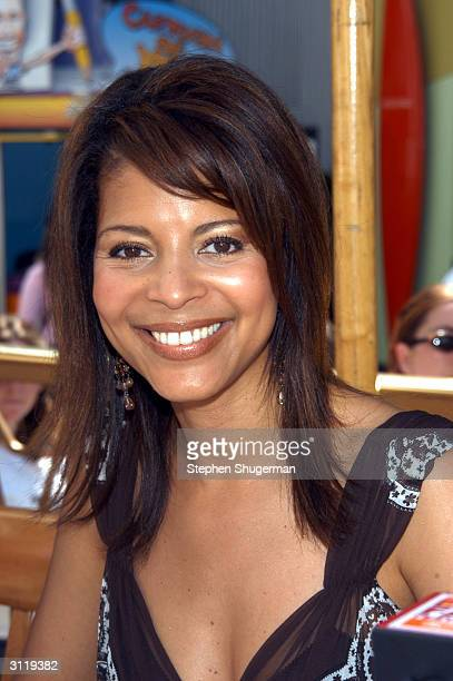 Actress Renee Jones poses during the second day of NBC's Fan Festival 2004 held on March 21 2004 at Universal City Walk in Hollywood California