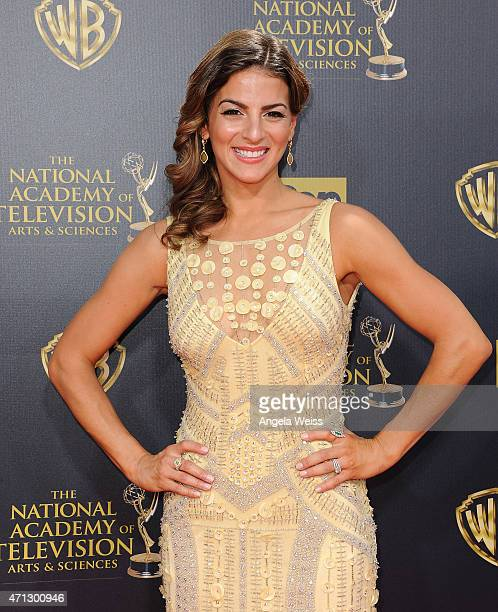 Actress Renee Marino arrives at the 42nd Annual Daytime Emmy Awards at Warner Bros Studios on April 26 2015 in Burbank California