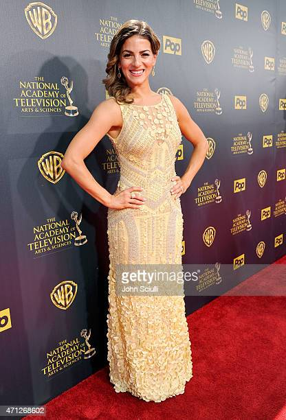 Actress Renee Marino attends The 42nd Annual Daytime Emmy Awards at Warner Bros Studios on April 26 2015 in Burbank California