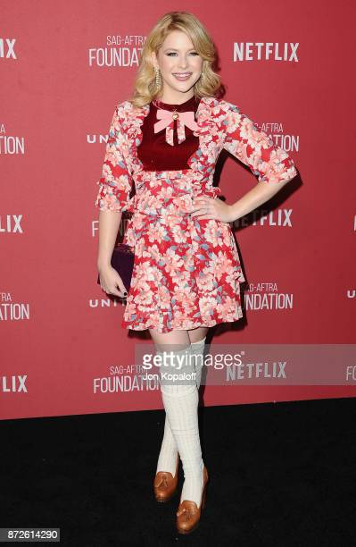 Actress Renee Olstead arrives at SAGAFTRA Foundation Patron of the Artists Awards 2017 on November 9 2017 in Beverly Hills California