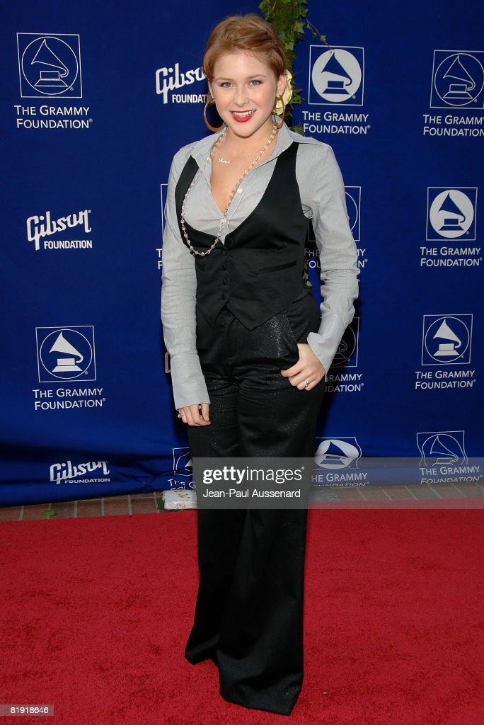 Actress Renee Olstead arrives at the GRAMMY Foundation Starry Night held at the University of Southern California on July 12th, 2008 in Los Angeles, California.