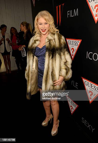 Actress Renee Olstead attends 30 Years Of Fashion And Film And The Next Generation Of Style Icons with W Magazine and GUESS at Laurel Hardware on...