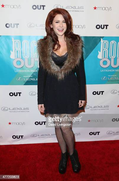 Actress Renee Olstead attends Out Magazine's Rock OUT event to kick off Los Angeles Fashion Week at Siren Studios on March 7 2014 in Hollywood...