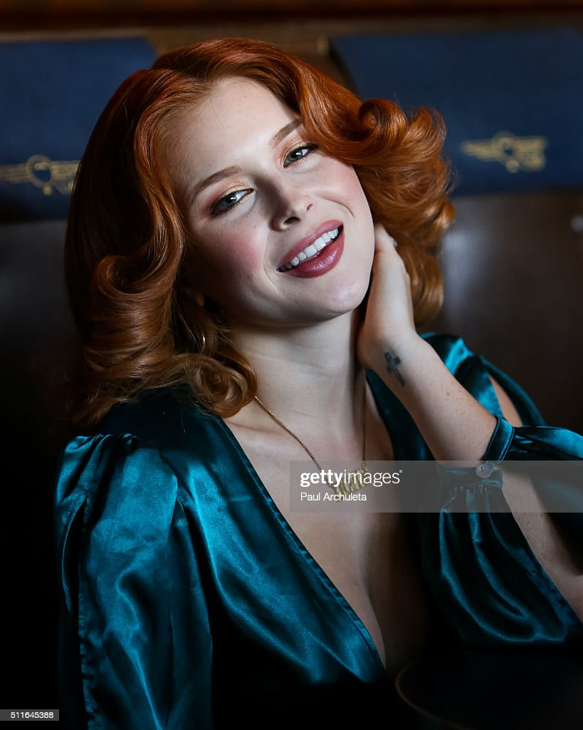 Actress Renee Olstead attends the 'Love Lounge' presented by Lambda Legal's Young Leadership Council at Now Boarding Bar on February 21, 2016 in West Hollywood, California.