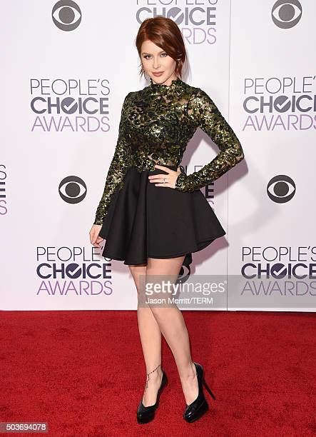 Actress Renee Olstead attends the People's Choice Awards 2016 at Microsoft Theater on January 6 2016 in Los Angeles California