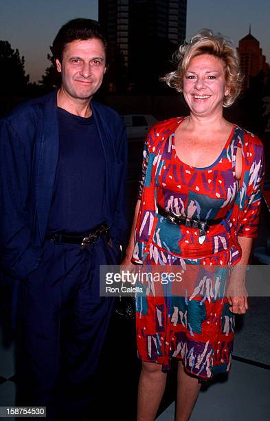 """Actress Renee Taylor and actor Joseph Bologna attending """"NBC Affiliates Party"""" on July 15, 1989 at the Century Plaza Hotel in Century City,..."""