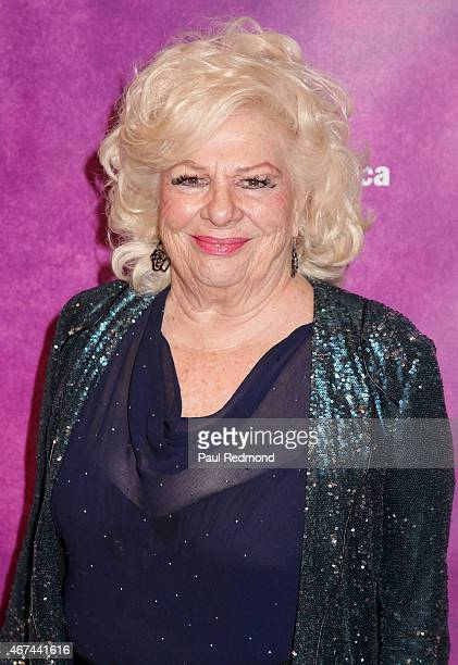 """Actress Renee Taylor arrives at """"Rodgers & Hammerstein's Cinderella"""" Opening Night at Ahmanson Theatre on March 18, 2015 in Los Angeles, California."""