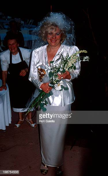 Actress Renee Taylor attending 25th Wedding Anniversary for Renee Taylor and Joseph Bologna on August 19, 1990 in Beverly Hills, California.