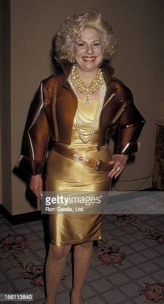 Actress Renee Taylor attending 'Friars Club Tribute to Liza Minnelli' on April 5 1987 at the Beverly Hills Hotel in Beverly Hills California