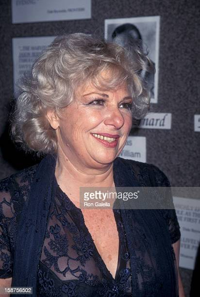 Actress Renee Taylor attending the opening of Bermuda Ave Triangle on October 1 1995 at the Tiffany Theater in West Hollywood California